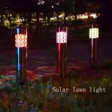 Solar Lawn LED Light Stainless Steel Outdoor Garden Path Lamp Waterproof New