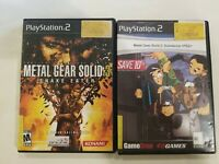 METAL GEAR 2: SUBSTANCE & METAL GEAR 3 SNAKE EATER PS2 PLAYSTATION TWO FREE S/H