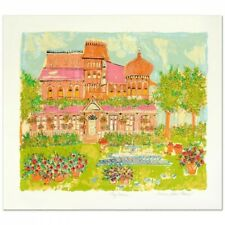 """RARE Susan Pear Meisel Signed """"My House"""" Limited Edition 29x25 Serigraph"""