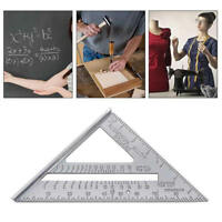 7'' Triangle Ruler Horizontal Woodworking Measuring Tool Ruler Protractor