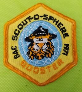 1971 Boy Scout Patch BSA Baltimore Area Council Scout O Sphere Booster