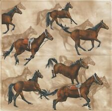 Paquet 20 Serviettes papier Maki Chevaux Paper Napkins Running Horses
