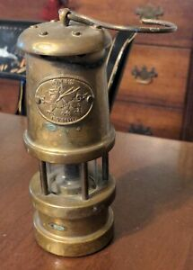 Antique Wales Cymru Mayer Mill Mining Trade Co Lamp Brass & Iron as is