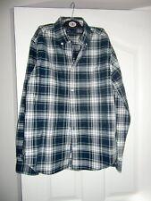 Para Hombre Gap Oxford Botones Camisa Verde/Negro/Azul/Blanco De Cuadros Talla M