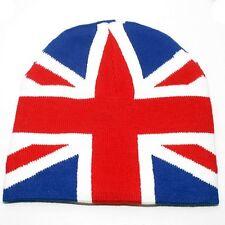 Punk Winter Ski Snowboarding Hat Union Jack British UK Flag Beanie ( QTY 2 )