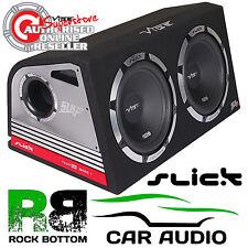 "Vibe SLICK SLR12 TA 2400 Watts TWIN 12"" Active Amplified Car Subwoofer Bass Box"