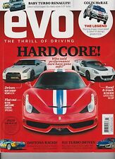EVO MAGAZINE UK January 2014, The Thrill Of Driving, HARDCORE!, DAYTONA RACED!.