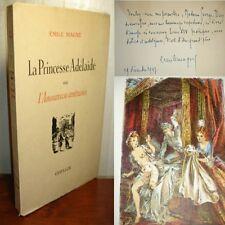 ANDRE HOFER LITHOGRAPHIES ENVOI EMILE MAGNE PRINCESSE ADELAIDE 1/50 H.C. 1946 av