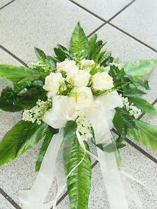 excl. Autoschmuck Autogesteck Hochzeit Blumengesteck Kunstblumen Autodeko