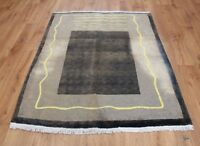 OLD WOOL HAND MADE  ORIENTAL FLORAL RUNNER AREA RUG CARPET 138 X 113 CM