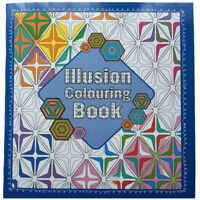 Optical Illusion Adult Colouring Book 64 Pages Anti-Stress Art Therapy 24 x 22cm