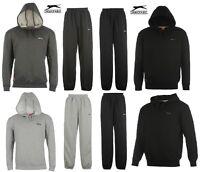 Mens Slazenger Fleece Hooded Tracksuit Sport Gym Suit Top Bottoms Sz S-XXL