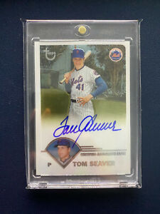 2003 TOPPS RETIRED TOM SEAVER AUTO AUTOGRAPH FACTORY SEALED CARD