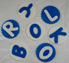 EDIBLE LETTERS OR NUMBERS ON DISC X 1 - CHOOSE YOUR COLOURS AND QUANTITY
