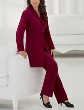 Ladies Monroe and Main Plus Monika Pant Suit 18W Burgundy $109.00
