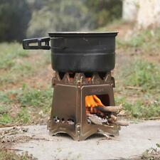 Stainless Steel Compact Folding Wood Stove Outdoor Camping Picnic Useful! P5M0