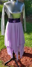 Womens Praise Liturgical Dance Skirt Purple S-LSize New Falda Nueva Danza Morada