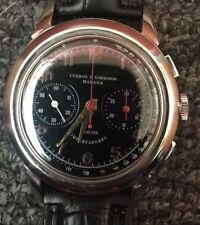 Vintage Cuervo Y Sobrinos Habana Chronograph SS Watch Working Condition
