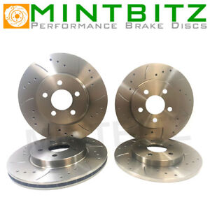 GROOVED BRAKE DISCS FRONT REAR COMPATIBLE WITH IMPREZA UK TURBO 2000