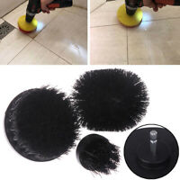 Black Electric Floor Clean Brush Drill Power Tool For Removing Stubborn Sta Rf