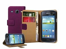 Wallet MAGENTA Leather Case Cover Pouch for Samsung Galaxy Core Duos GT-i8262