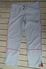GR8 BILLABONG Straight Leg-Zip Side Casual PANTS Size 12 Natural-Red Trim