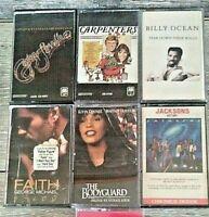Lot of 6 Dance Pop Vintage Cassette Tapes 70s 80s Jacksons Houston Michael More
