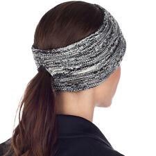 TrailHeads Women's Space Dye Knit Ponytail Headband - black & white