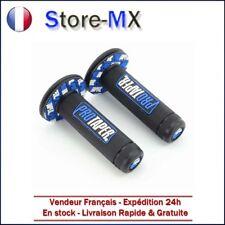 Paire de poignées Pro Taper Noir / Bleu pour Moto-cross Suzuki RM 50