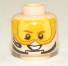 LEGO NEW LIGHT FLESH MINIFIGURE HEAD DUAL SIDED ORANGE VISOR STAR WARS