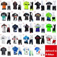 New Mens Cycling Jersey 3D Bike Shorts Fast Dry Short Race Sets Shirt Padded Bib