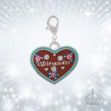 Wiesnluder corazón charm corazón Tracht remolque cadena charm c604