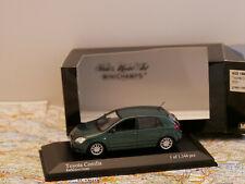 MINICHAMPS TOYOTA COROLLA 5-DOOR 2001 GREEN ART.400166710 NEW 1:43