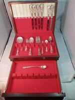 Wm Rogers Extra Plate VALLEY ROSE 29 Pieces And Original Box