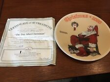 """Norman Rockwell """"The Day After Christmas"""" Christmas 2000 Collector Plate"""