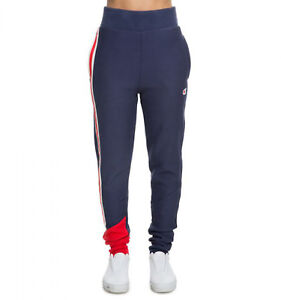 Champion Women's COLOR BLOCK JOGGER Pants Indigo/Red ML253-ATN c Size L