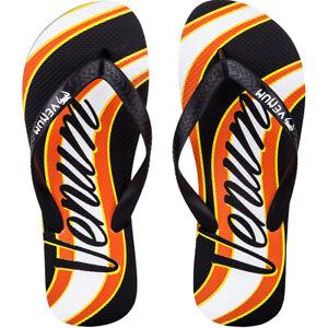 Venum Cutback Flip-Flop Sandals - Black/Yellow