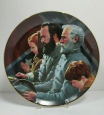 Jackson and Lee: Legends in Gray Brought To Tears Mort Kunstler Plate W/Bx