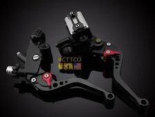 "USA 7/8"" Motor Clutch Brake Levers Master Cylinder Reservoir Suzuki CNC Black"