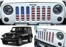 American Flag USA Grill Inserts For 2007-2017 Jeep Wrangler JK New Free Shipping