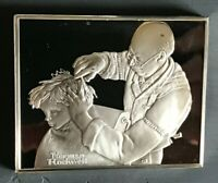 """AT THE BARBER"" Norman Rockwell's Fondest Memories .925 Silver Ingot"