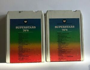 SUPERSTARS OF THE 70'S 2x Set SP8T40001, SP8T40002 8 Track Tape 1973  *tested*