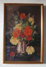 FRAMED TAPESTRY - VASE OF FLOWERS (50CM X 32CM) - BOX HL