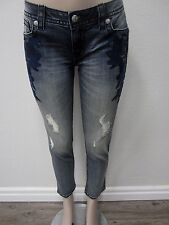 NWT MISS ME Embroidered Signature Skinny Ankle Jeans JP7668AK  Size W29 X L27
