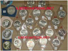 DA SERIE DIVISIONALE GIRO COMPLETO 500 LIRE ARGENTO CARAVELLE FDC  1968 AL 2001