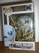 Funko pop 06 en persona signed-Game of Thrones-White Walker-Ross mullan got