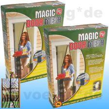 2x Türvorhang m. Magneten Magnetvorhang Insektenvorhang Fliegennetz Zebra-Design