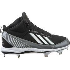 Nuevo Hombre Adidas Poweralley Medio Béisbol Metal Tacos Negro / White / Talla