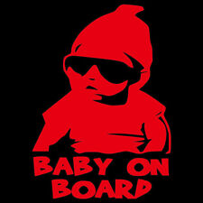 Reflective BABY ON BOARD Safety Decal nighttime visible sticker for Car & SUV