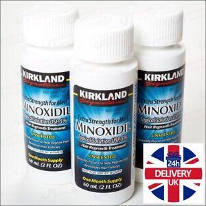 Kirkland 5% Extra Strength Solution 4 Men Hair Loss Regrowth Regain Treatment UK